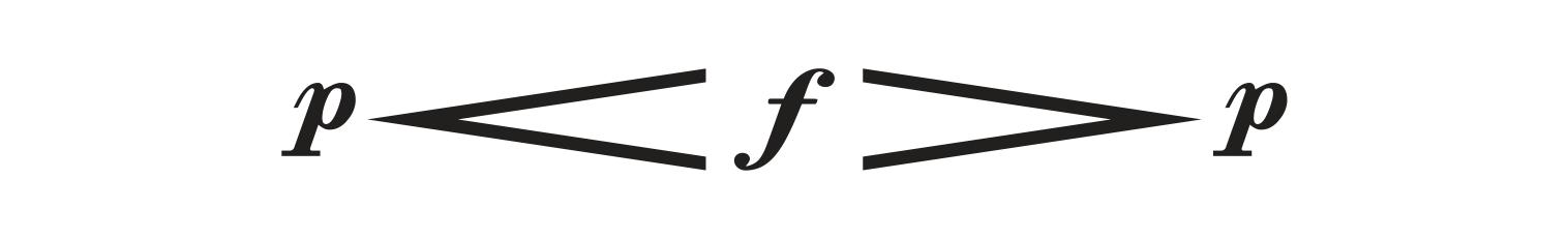 ilustração de p (piano) sinal de crescendo f (forte) sinal de diminuendo e novamente p (piano).